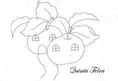 Artes da Nil - Riscos e Rabiscos: Casas de frutas...delicia!!!!!!!