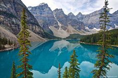 Lake Moraine Reflections Via @Matthew Karsten http://expertvagabond.com/lake-moraine-banff/