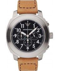 Mens Emporio Armani Mens Light Brown Chronograph Sports Watch 179.00 Watches2U