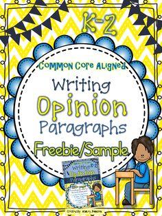 Opinion Paragraph Writing Unit Freebie/Sample