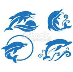 Dolphins Royalty Free Stock Vector Art Illustration