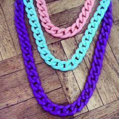 chain colors pastel shuuforyou necklace collares mo0da fashion accesorios