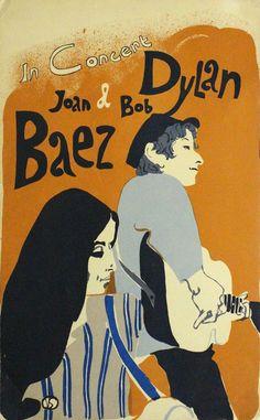 Bob Dylan & Joan Baez - In Concert - Mini Print
