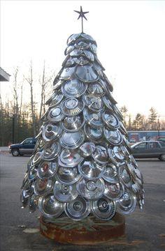 Unusual Christmas Trees- Hib Cap tree