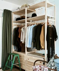 Inside the apartment of an eco-conscious minimalist - IKEA Ikea Inspiration, New Room, Wardrobe Rack, Small Spaces, Sweet Home, Bedroom Decor, New Homes, House Design, Interior Design