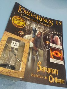 Collectors Hand Painted Lead Model Magazine LOTR Eaglemoss 15 Saruman Orthanc in Collectables, Fantasy/ Myth/ Magic, Lord of the Rings/ Tolkien   eBay