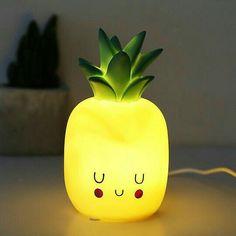 Pineapple Room Decor, Pinapple Decor, Cute Night Lights, Disaster Designs, Neon Licht, Cute Pineapple, Pineapple Lights, Deco Originale, Kawaii Room