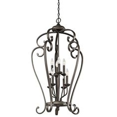 Monroe Olde Bronze Eight-Light Foyer Cage