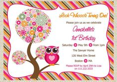 Cute Owl Baby Shower Invitations