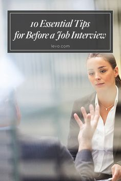 #JobInterview How-To: follow these steps leading up to your big moment. www.levo.com #JobSearch #Career