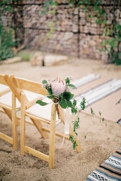 A protea touch: http://www.stylemepretty.com/2015/01/13/modern-chic-marfa-texas-wedding/ | Photography: To Live. To Love. - http://tolivetolovephotography.com/
