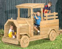 Workshop Supply - Truck Play Structure Plan - 5 ft tall x 8 ft long only $22.95