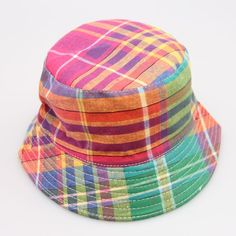 bb62a2168ce New design women and men summer plaid bucket hat cotton spring outdoor  casual gorras fisher caps