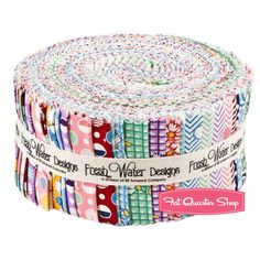 """Jelly Roll = 2 1/2"""" x 42-44"""" stripe with 40 strips total. Kimberly's Garden 2.5"""" Strips Fresh Water Designs"""