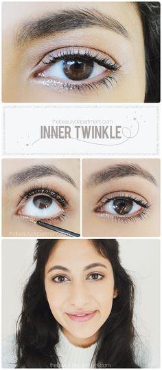 How to wear glitter eyes