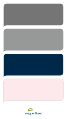 Charcoal, Classic Gray, Navy, and Cream Rose - Free Color Swatches ordered at MagnetStreet.com