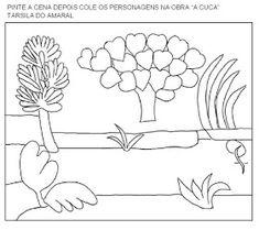 Educação infantil facil: TARSILA DO AMARAL Colouring Pages, Op Art, Art History, Origami, Tapestry, Education, Study, School, Visual Art Lessons