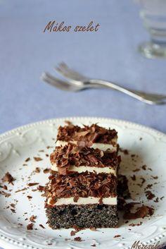 Mézesélet: Krémes mákos szelet Poppy Cake, Eat Pray Love, Tiramisu, Cookie Recipes, Cookies, Dishes, Ethnic Recipes, Food, Biscuits