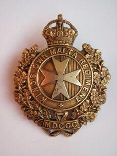 King's Own Malta Regiment Cap Badge