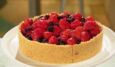 Cheesecake de frutas vermelhas_ a massa não vai ao forno