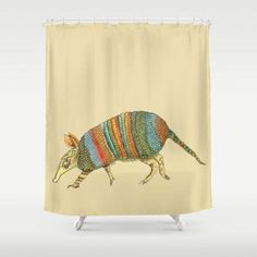 Armadillo Shower Curtain Southwestern by ArtfullyFeathered