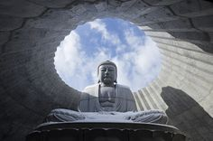 The Hill of the Buddha by Tadao Ando Tadao Ando, Perspective Art, Facade Architecture, Japan Travel, Asian Art, Buddhism, Art Boards, Landscape Design, Statue