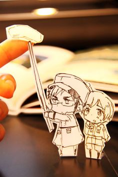 Sweden and Finland, Hetalia Paper Children - These were made by the creator of Hetalia, Himaruya Hidekaz.