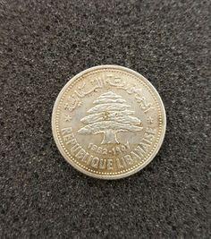 1952 Republique Libanaise Silver Coin 600 Silver Monedas Asia