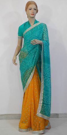 Designer Bandhani Saree Pure Georgette #maanacreation