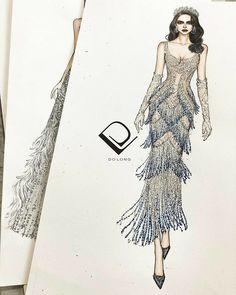 Dress Design Sketches, Fashion Design Sketchbook, Fashion Design Portfolio, Fashion Design Drawings, Fashion Sketches, Fashion Drawing Dresses, Fashion Illustration Dresses, Fashion Illustration Tutorial, Kpop Fashion Outfits