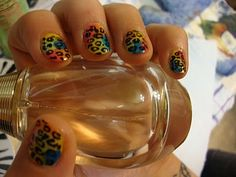 Neon Rainbow Cheetah/Leopard Print