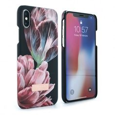 4814b17c79e68 Ted Baker CHIPPIT Soft Feel Hard Shell for iPhone X - Tranquility Black