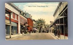 FRONT-ROYAL-VA-Main-Street-Miniature-postcard-Virginia