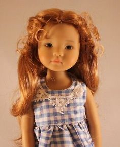 This a long wavy wig pulled up at the sides. It has little tendrils around the face. It is made of synthetic fibers. Girl Doll Clothes, Girl Dolls, Doll Wigs, Little Darlings, 9 And 10, Bjd, American Girl, Curly Hair Styles, Fashion Accessories