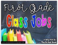 First Grade Classroom Jobs First Grade Jobs, Teaching First Grade, First Grade Classroom, Classroom Jobs Free, Classroom Job Chart, Classroom Management, Classroom Ideas, Teacher Organization, Teacher Hacks