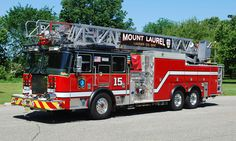 Mount Laurel, NJ FD KME AerialCat Rear-Mount Ladder Truck.