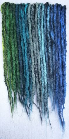 Black Green and Blue Long DE Accent Dreads  by blacksunshineiow, £27.99
