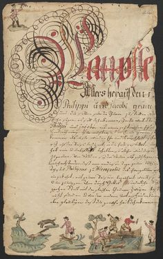 18th c handwriting notebook, from the state library of Berlin.