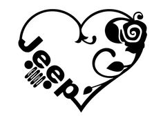 Love Heart Jeep Girl Die-Cut Graphic Decal