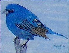 by Orphie Barella, Small Blue Bird