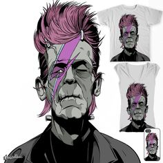 David Bowie Illustration Fashionstein  on Threadless by Mister Black http://www.thisismisterblack.com/