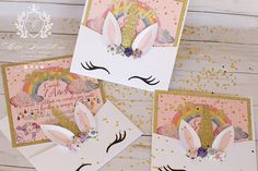 ***********EXCLUSIVE*********** Tooo Cute! Unicorn invitation!, a Great way to surprise your guest they will be so excited for this party with this unique Magical Unicorn invitation! THEY ARE HANDMADE! ♥ HOW TO ORDER??? ♥ *We only sell on quantities of 25 invitations. *This