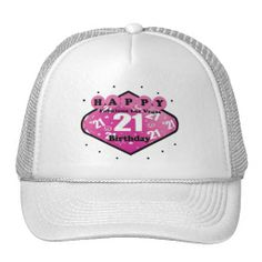 HAPPY FABULOUS LAS VEGAS 21ST BIRTHDAY HAT 21st Birthday Baseball Hats Pretty Happy