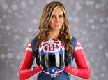 Noelle Pikus-Pace won Olympic Silver in Sochi 2014.  Gorgeous and talented!
