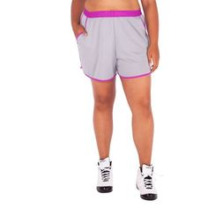AND1 Women's Plus-Size Ballers Mesh Soccer Short, Size: 1XL