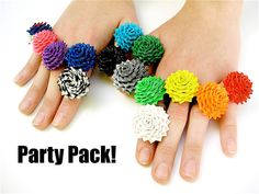 Crafting Kit for a Party - Duct Tape Rose Ring Tutorials and Duck Tape Rolls