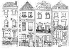 - cartoon doodle drawings - Best Picture For Architecture Drawing elevati Doodle Drawings, Doodle Art, Line Drawing, Painting & Drawing, House Doodle, House Drawing, House Sketch, House Illustration, Building Illustration