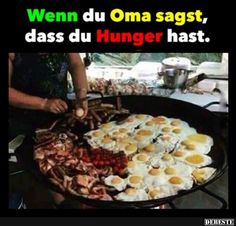 Wenn du Oma sagst, dass du Hunger hast.. | Lustige Bilder, Sprüche, Witze, echt lustig