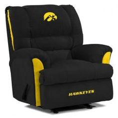 @Laura DeLay Santiamagro- I think you should buy this for Matt!!!!! Iowa Hawkeyes Big Daddy Recliner with Plush Foam Comfort