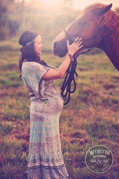 Webster Weddings, Bohemian Maternity, Rustic Farm maternity, natural light maternity, horses and